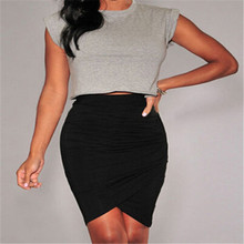 Buy Women's Sexy Slim Fitted Straight Pencil Skirt High Waist Career Mini Skirt 3 Colors for $6.11 in AliExpress store