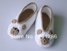 15%off!Crochet Baby Booties Bears cheap shoes 5pairs/10pcs(China (Mainland))