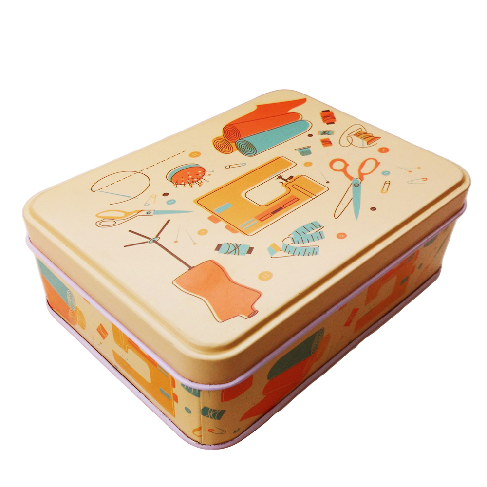 D&D Metal Sewing Box Case Sewing Tools Organizer Storage Box for Jewelry Kids Toy Gift Home Supplies(China (Mainland))