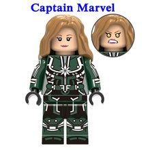 1pcs Ation Figure LegoINGly Super Hero Avengers Captain Marvel Ant Man Wasp Building Blocks Hulk Black Panther Toys For Children(China)