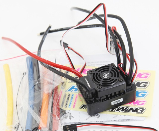 100% original Hobbywing Speed Controller EZRUN Waterproof WP SC8 120A Brushless ESC - RC Battery store