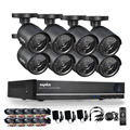 SANNCE 8CH 960H Waterproof CCTV System Video Recorder 800TVL Home Security Camera Surveillance Kits With 8