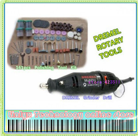 Free shipping Electric Dremel grinder Tools +161 pc kit, Mini die grinding tools, factory price<br><br>Aliexpress