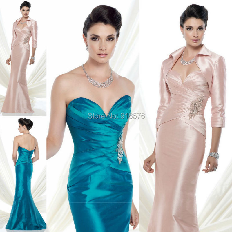 Perfect  Size Women Formal Evening Dresses With Jacket  Long Dresses Online