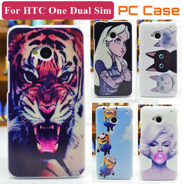 New Fashion Cell Phone Case For HTC One Dual SIM Back Protective Cover 802w Free Shipping(China (Mainland))