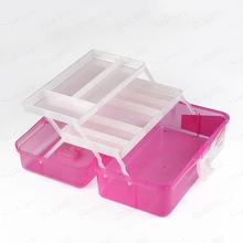New 2016 Fashion Nail Art Tool Box Multi Utility Storage 3 Layer Plastic Case Makeup Craft Manicure Salon Kit Accessories(China (Mainland))