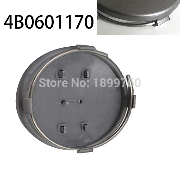 2pcs Free ship 60mm Grey OEM Wheel Center Hub Caps Car Styling Wheel Center Hub Cover OE 4B0 601 170 4B0601170