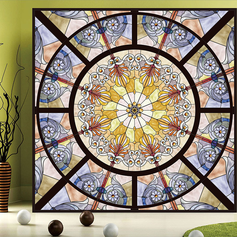 Tiffany Glass Stained Glass European church stained With glue glass window wardrobe balcony Crane Environmental Continental(China (Mainland))