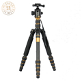 QZSD Q666C Professional Carbon Fiber Tripod Monopod Pro For DSLR Camera Portable Traveling Tripod Max load