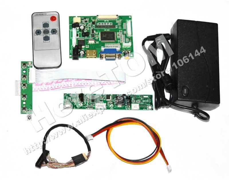 HDMI+VGA+Audio+2AV Controller Board Driver PCB800099 for B101UAN02.1 1920*1200 + LVDS Cable + Keyboard + Inverter +Power Adapter(China (Mainland))