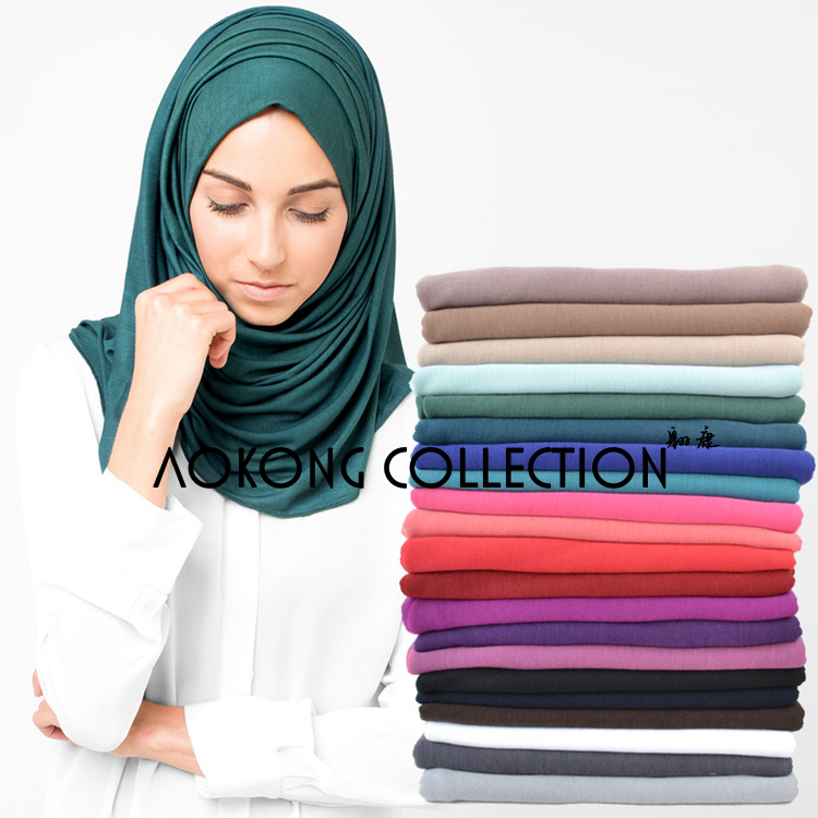 10pcs/lot maxi scarves jersey hijab 85*180 cm woman polyester cotton jersey scarf muslim long head wraps solid plain hijab stole(China (Mainland))