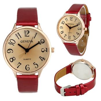 Super Sale Women Watches Top Brand GENEVA Fashion Quartz Watch Leather Women Montre Casual relogio feminino reloj hombre 2016