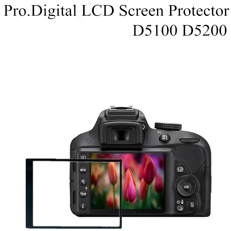 Professional Digital Camera Accessories Pro Optical Glass LCD Screen Protector Film Guard For Nikon D5100 D5200(China (Mainland))