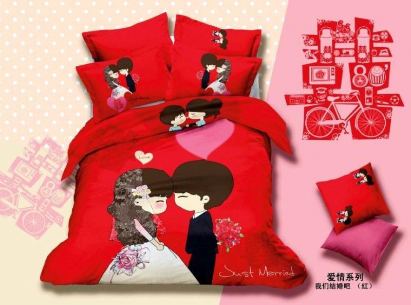 Rode Kleur Slaapkamer : Chinese Wedding Bedding Sets
