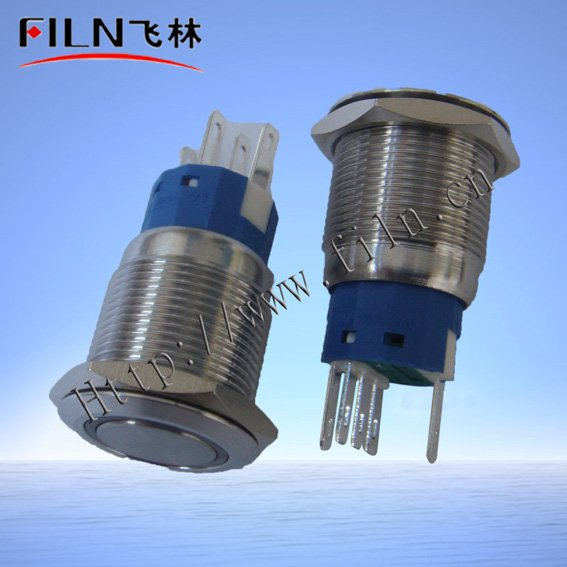 10 19mm diameter stainless steel momentary push button switch 24vdc ring Green LED flat actuator - Wenzhou Xinglin Electrical Fittings Factory store