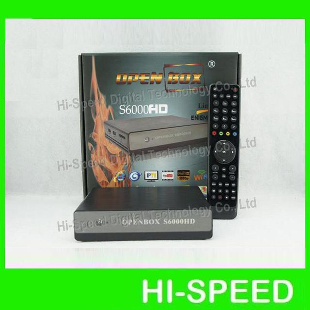 2013 NEWEST !! 2pca a lot!  Original Openbox S6000 HD BCM7325,DVB-S2 Engima2 OS (OpenPLi) support IPTV streaming  free shipping