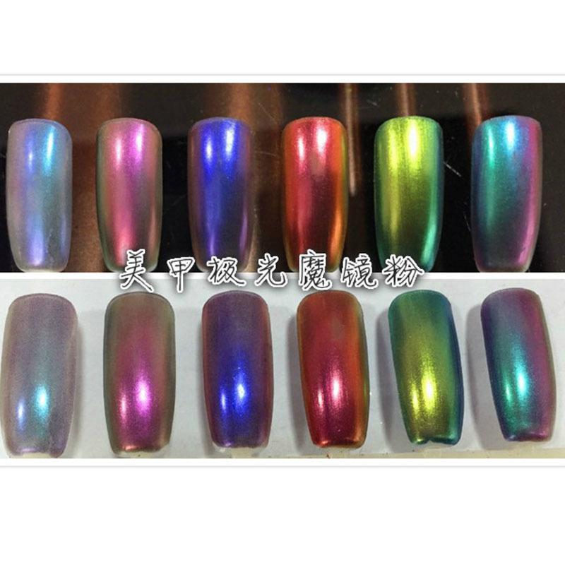 1g Mirror Powder Pigment Ultrafine Powder Aluminium Powder Chrome Pigment Nail Glitters Nail Sequins NailMAD Chrome Pigment(China (Mainland))