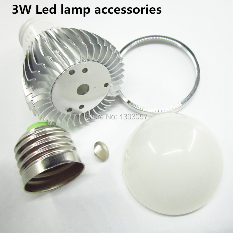 LED bulb lamp accessories 3w E27 B22 Gu10 E14 DIY Aluminum shell kit LED parts for bulbs improved(China (Mainland))