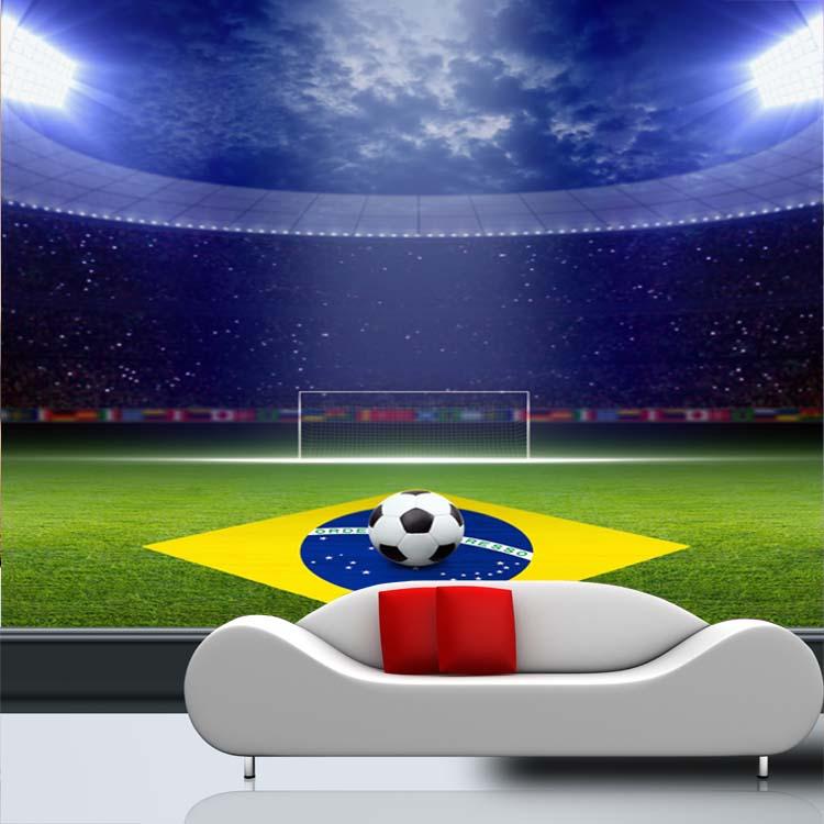 Free Shipping World Cup football activities theme mural bar KTV wallpaper mural football wallpaper