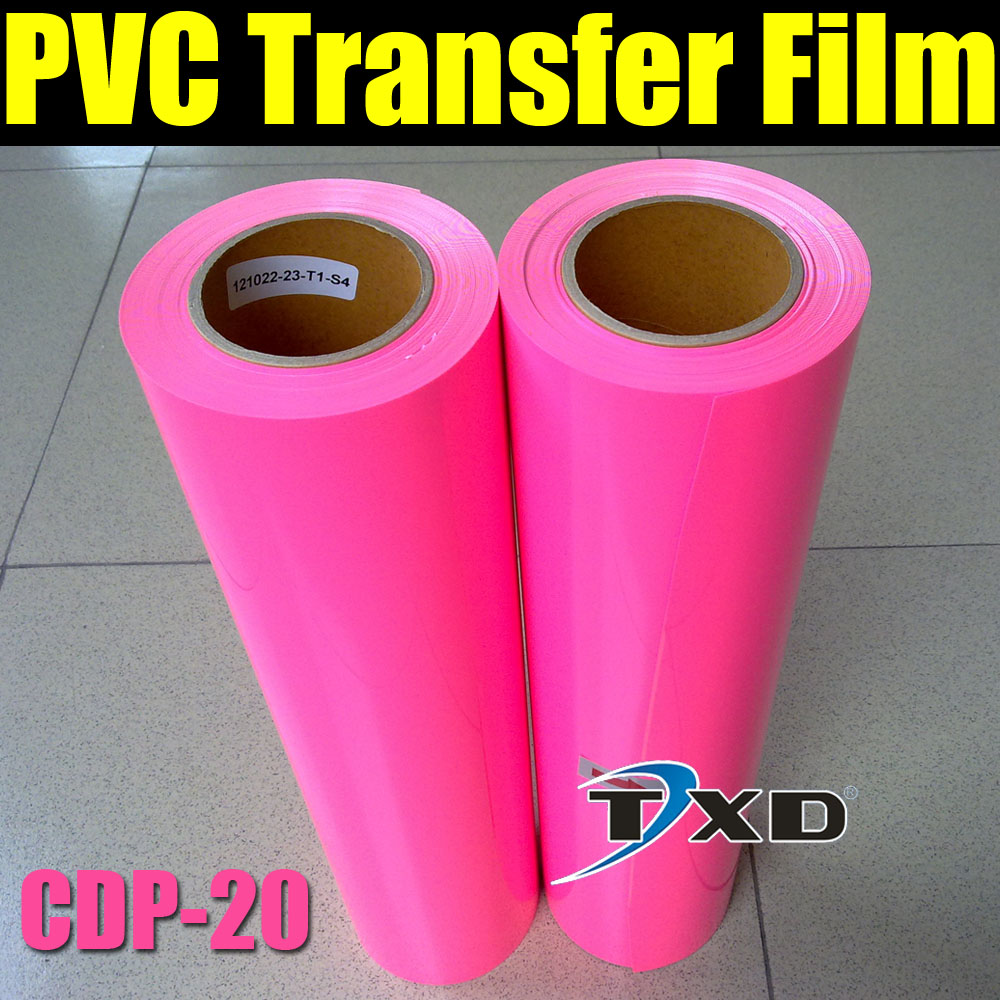 Colorful PVC heat transfer film for garment pink color by free shipping CDP-20 PINK(China (Mainland))
