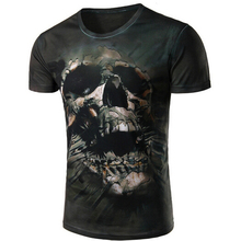2016 New Mexico Skull Men's shirt manufacturing polyester spandex short-sleeved T-shirt 3D