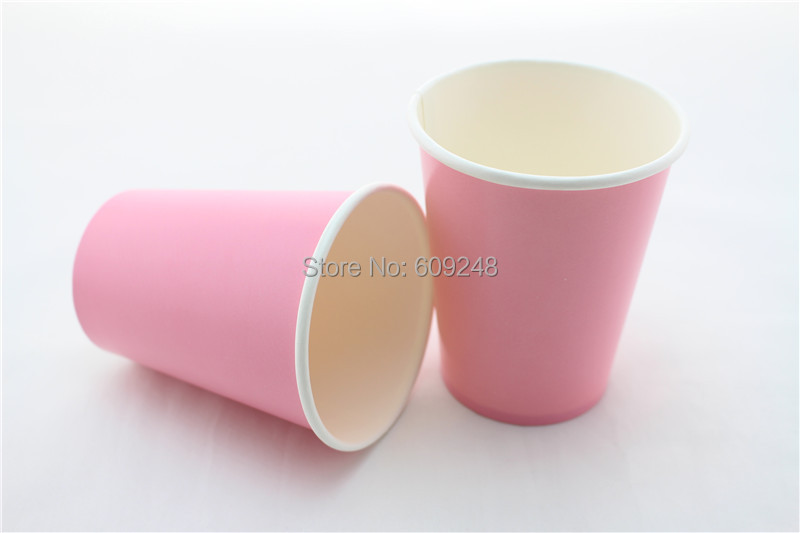 60pcs 90Z Baby Shower Birthday Solid Color Tableware,Kids Plain Pink Party Paper Cups Drinking,Cheap,Bulk,Wholesale,Holiday(China (Mainland))