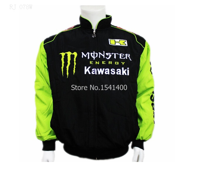 new F1 racing for cool winter cotton KAWASAKI clothing automobile race car long-sleeve outerwear cotton-padded jacket(China (Mainland))