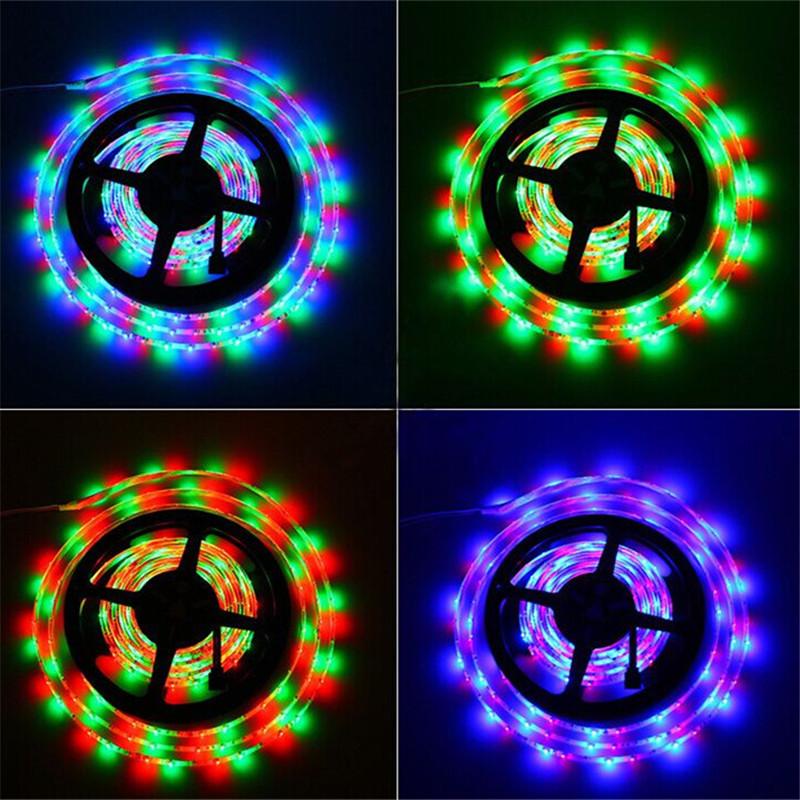 5M RGB LED Tape 3528 SMD 12V fita led branca flexible light RGB strip white/warm white/blue/green/red/yellow(China (Mainland))