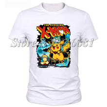 New Fashion video Game XBOX Gamer Funny T-shirt Men Humor x man Pikachu Casual Printed College Mens Short Sleeve T Shirt Tshirt
