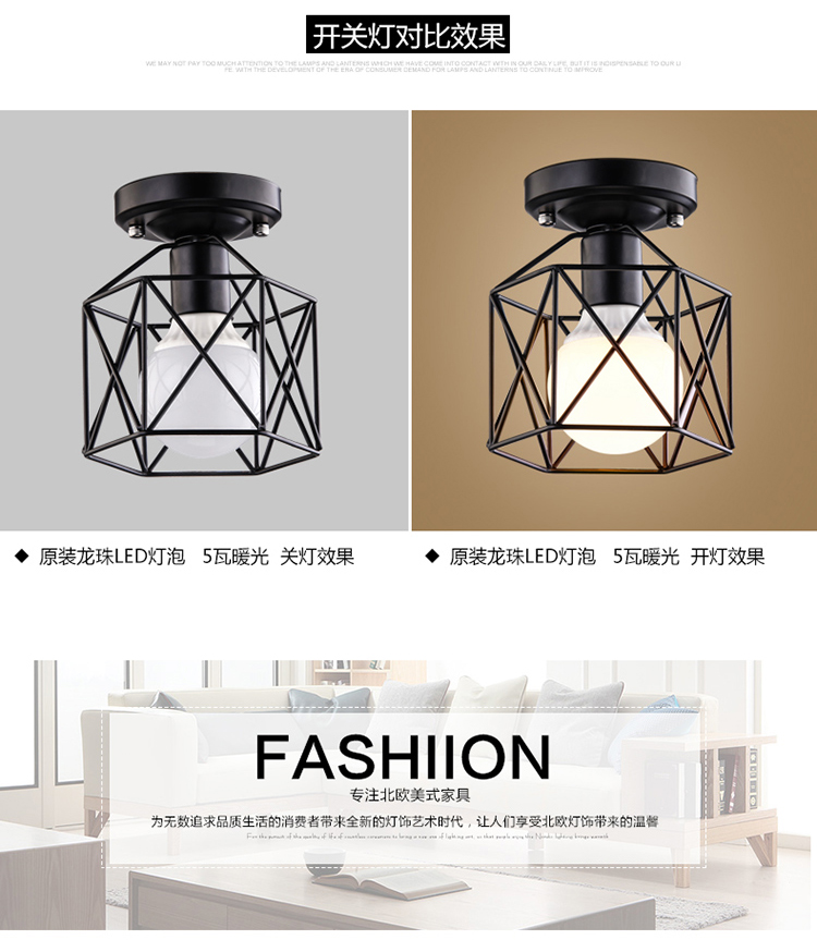 A1 Flower Type The American Village Living Room Pendant Lights Study  Hallway Modern Minimalist Bedside LED Pendant Lamp SD130   Us479
