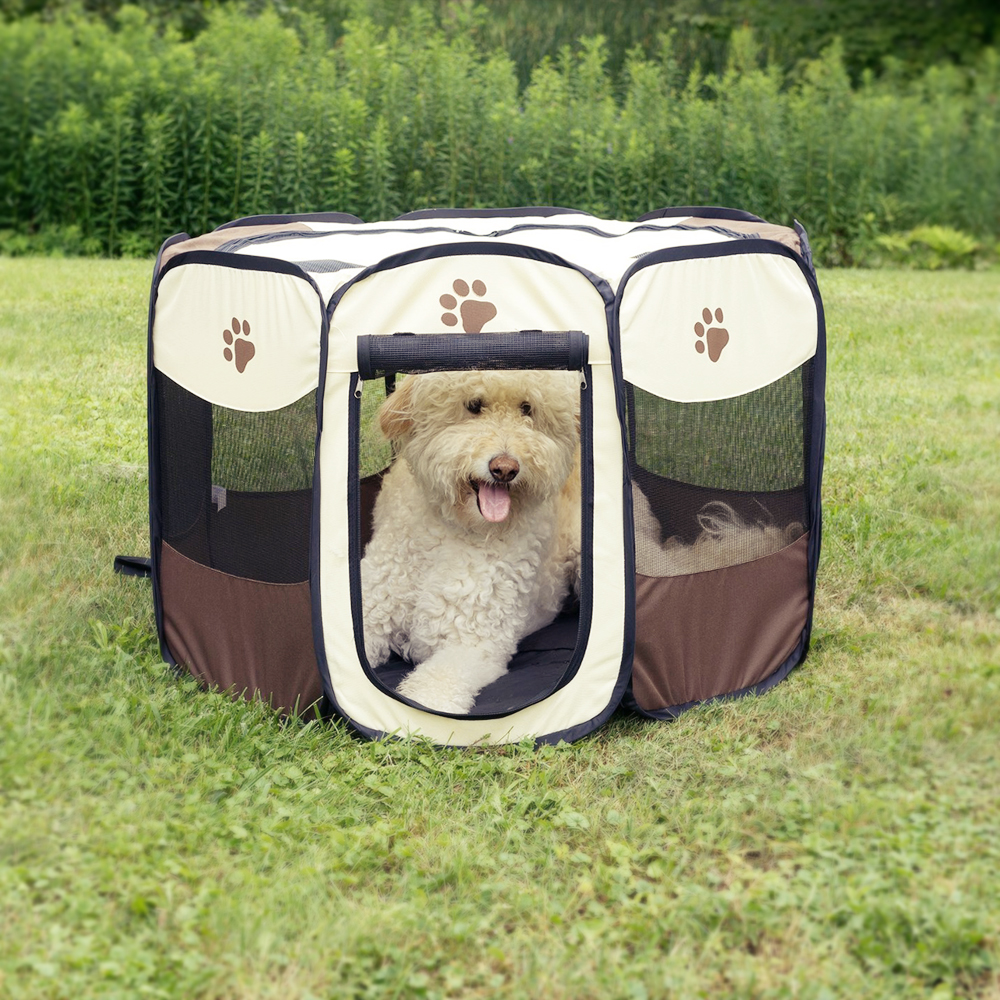 Pet Bed Pet Play Pen Puppy Rabbit Cage Folding Run Dog Fence Garden Crate Pet Kennel Outdoor Indoor Dog Beds for Large Dogs(China (Mainland))