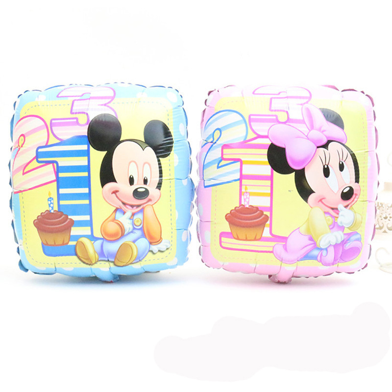 Minnie Mickey Mouse Birthday party decoration Cartoon toy balloon Classic toys 50 pcs/lots - LEZI Export Co.,Ltd store