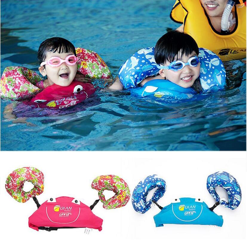Professional Child Swim Vest Arm Float Swimming Circle Baby Swim Trainer Fishing Life Vest Water Sports Kid Swimming Accessories(China (Mainland))