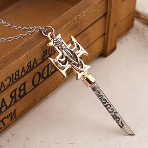 The Da Vince Code Necklace Dagger Sanskrit Cross Sword Pendants Men's Chain Masculine Steampunk Jewelry For Men Boyfriend Gift(China (Mainland))