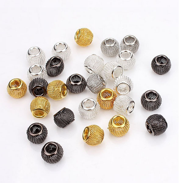 10pcs/lot Free Shipping Big Hole Hollow Out Metal Spacer Beads Chunky Beads DIY Jewelry(China (Mainland))