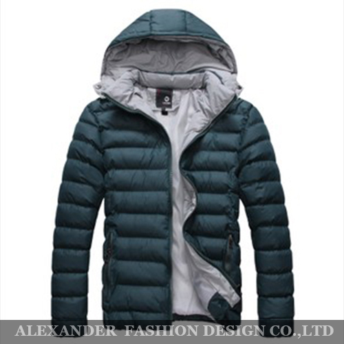 Free Shipping 2014 Fashion Winter Down Jacket Men Thermal Cotton padded Overcoat Casual Men s Hooded