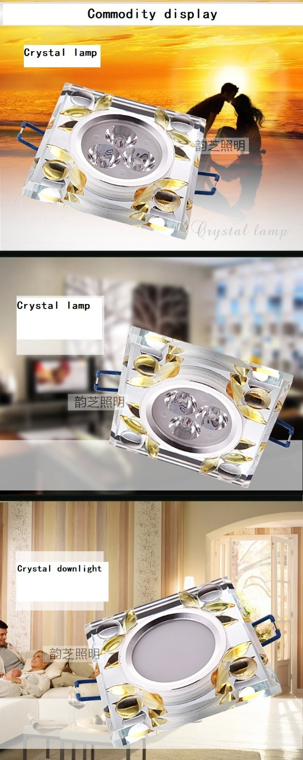 lamparas de techocrystal lamp tube light smallpox bedroom a sitting room background wall square discounted lights(China (Mainland))