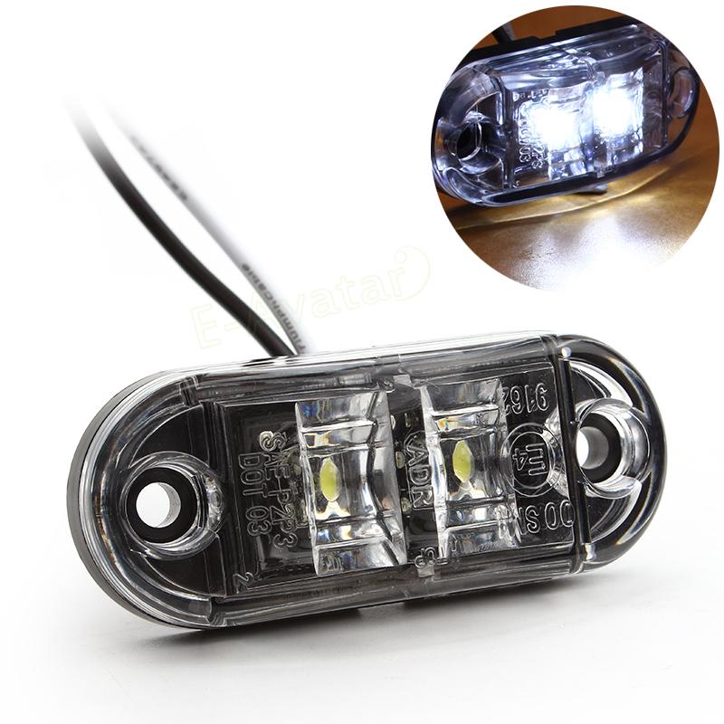 1pc Auto LED Side Marker Light Clearance Lamp 12V 24V E-marked DOT Car Van Truck Trailer Bus Steering light EA10722(China (Mainland))