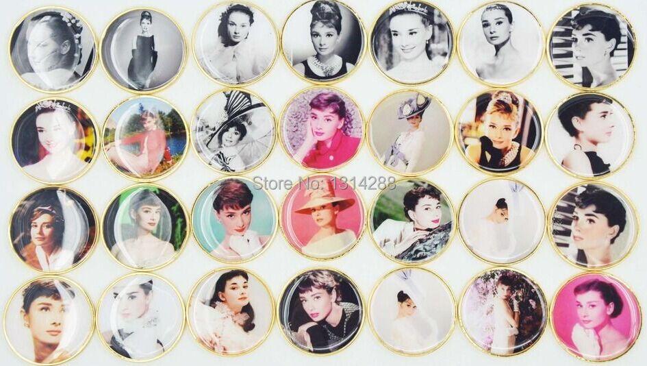 Random Sent Golden Audrey Hepburn 86Th Anniversary Of Birth Memorial Coins UK Hepburn Commemorative Coin Free Shipping 20pcs/lot