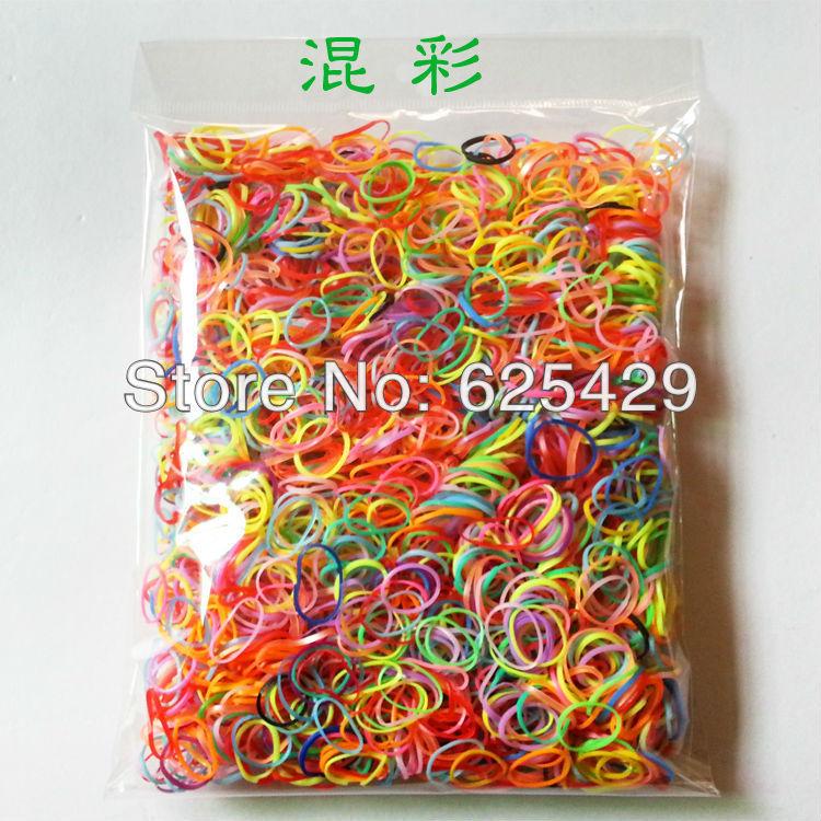 2014 new 1500PCS/lot Hot-selling girls hair bands Small baby rubber band Mix color princess hair accessories Good hair loop(China (Mainland))