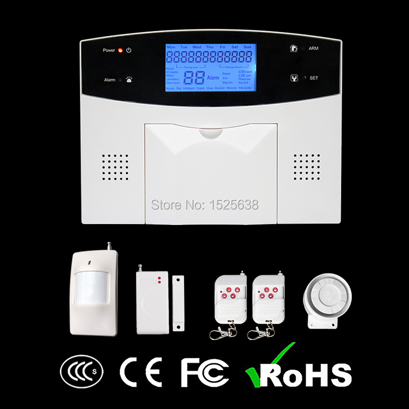 2016 New products CE 99 wireless zones GSM &amp; PSTN  phone App Alarm panel security system with door sensor<br><br>Aliexpress