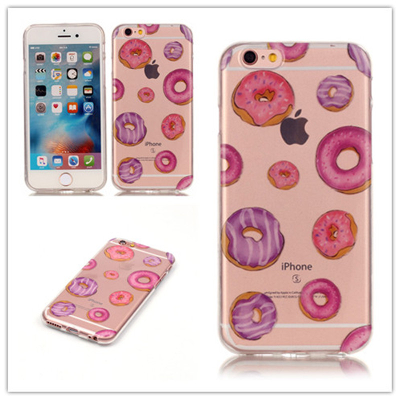 Transparent Soft TPU Case capinha For iPhone 6 6S iPhone 6Plus 6S Plus Cover Red high heels Blue butterfly Macaroon Pattern(China (Mainland))