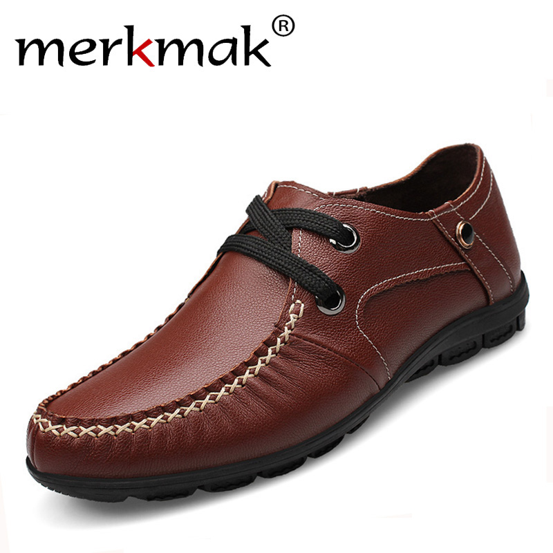 merkmak genuine leather shoes 2016 fashion mens shoes