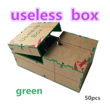 wholesale green 50pcs Useless Box Kit Leave Me Alone Box Geek Gift(Fully Assembled,DIY Version)Fun Joke Novelty Gag Electric Toy(China (Mainland))