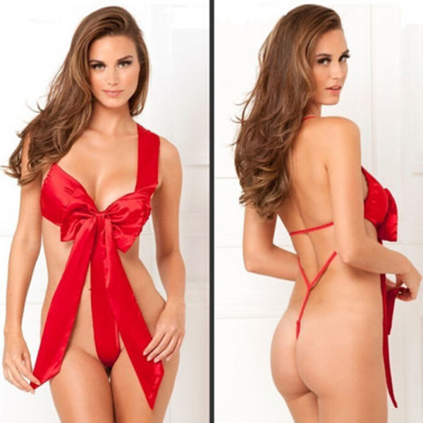 FreeShipping Lady Christmas Babydoll Underwear Naughty Knot Body Bow Sexy Lingerie Sleepwear DropShippingОдежда и ак�е��уары<br><br><br>Aliexpress