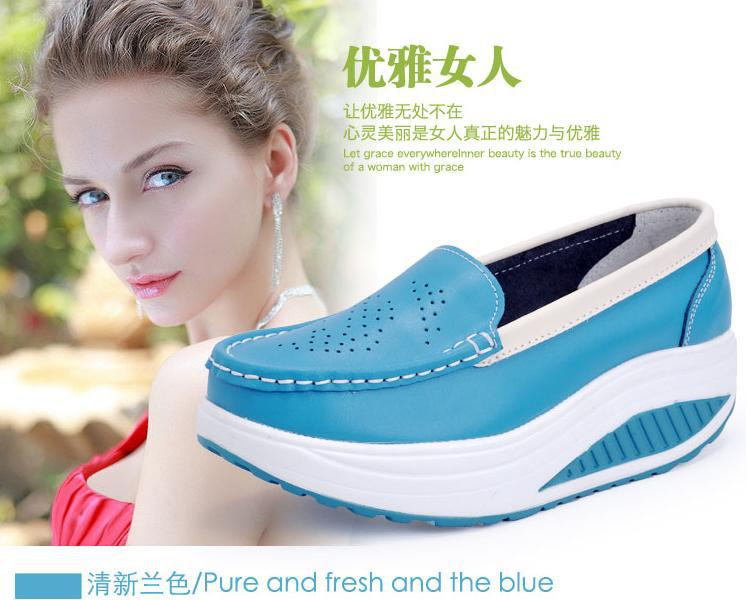 2015 spring autumn women's shoes genuine leather swing female nurse white platform single - Online Store 331468 store