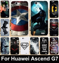 Captain American Batman Superman mobile phone case protective case hard Back cover Skin Shell for Huawei Ascend G7 C199
