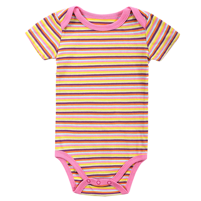 2016 New Summer 100% Cotton Clothing Newborn Body Baby Rompers One Piece Jumpsuit Infant Striped Baby Boy Girl Clothes 0-12M(China (Mainland))