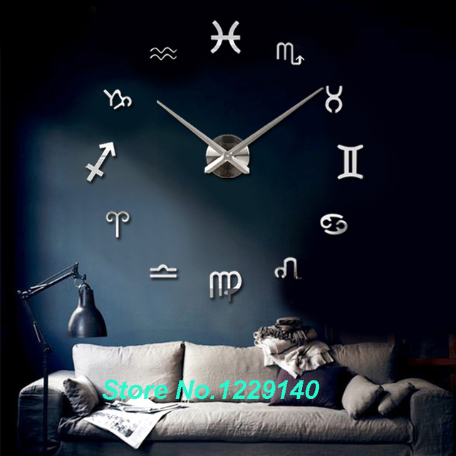12 constellations large size 3d acrylic mirror surface modern home office meetting room decoration art clock aliexpresscom buy office decoration diy wall