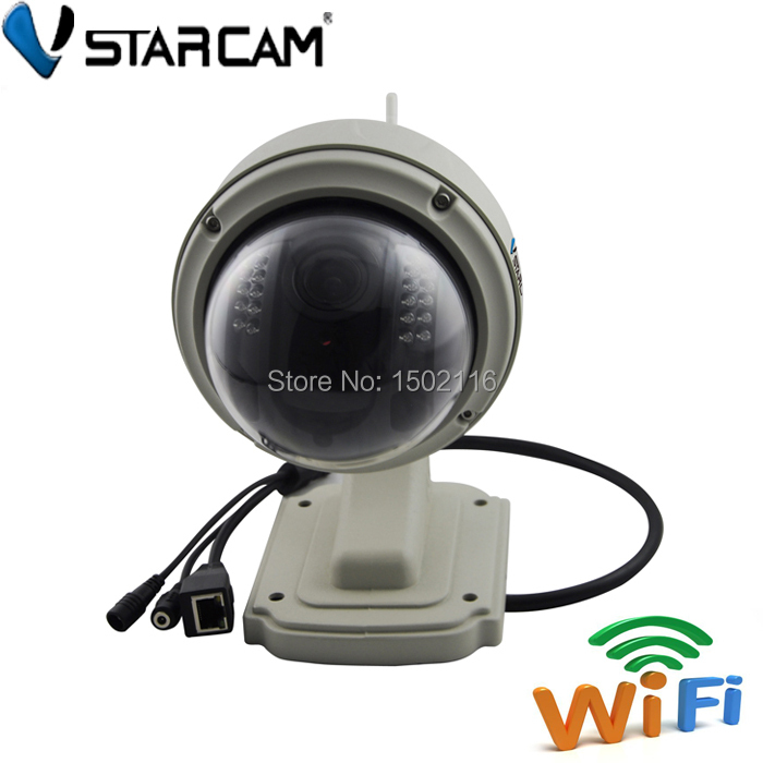 Vstarcam T7833WIP P2P Plug and Play Outdoor PTZ Wireless/WiFi 1MP HD 720P IP Camera Security with Pan/Tilt SD Card IR Cut<br><br>Aliexpress